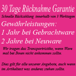 30 Tage R�ckgabe Garantie