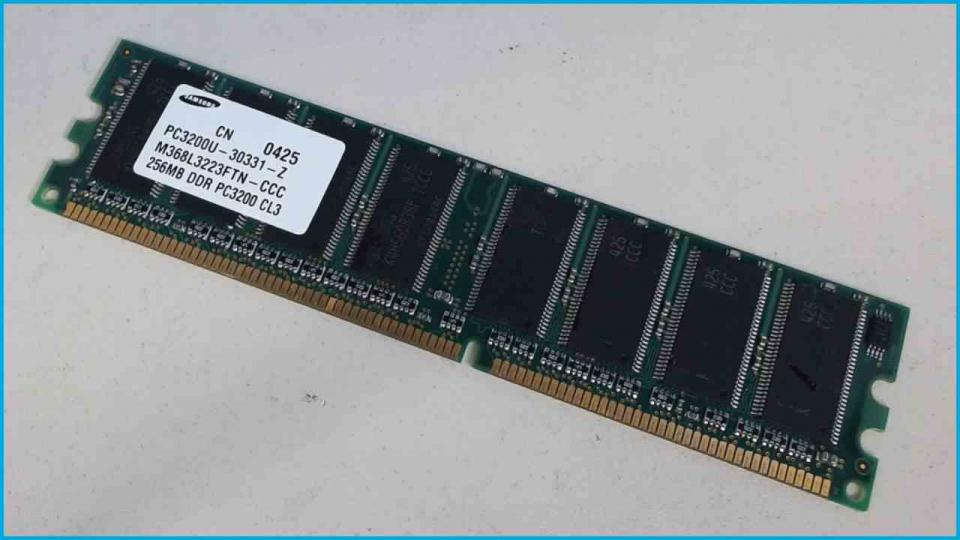 256MB RAM Memory DDR 3200 CL3 Samsung PC3200U-30331-Z