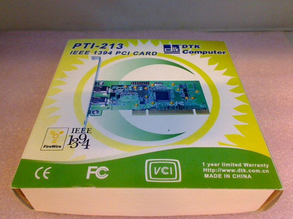 ADAPTER PTI-213 IEEE 1394 400 MBPS DTK PCI CARD FIREWIRE