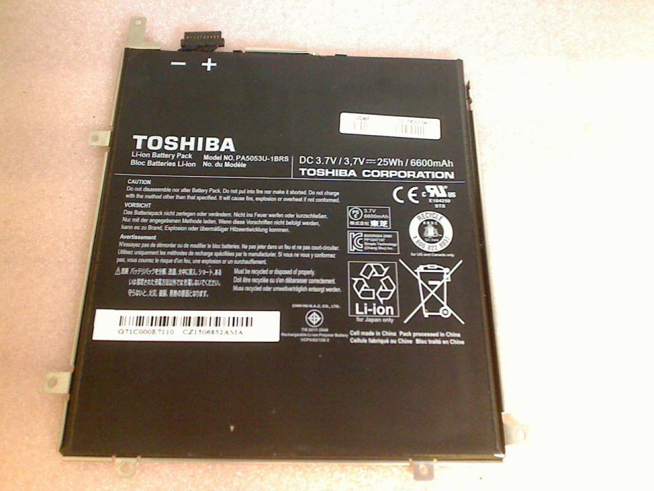 Akku Battery 3.7V 25Wh/6600mAh PA5053U-1BRS Toshiba AT300SE