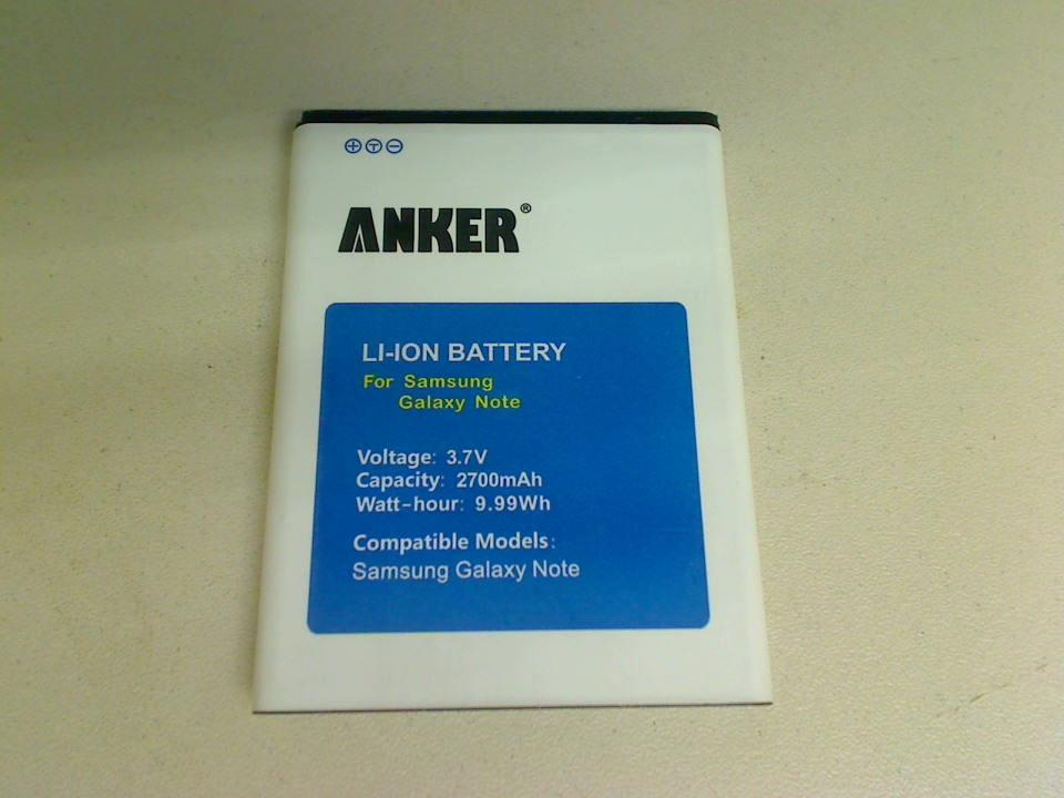 Akku Battery 3.7V 2700mAh 9.99Wh Samsung Galaxy Note GT-N7000 -2