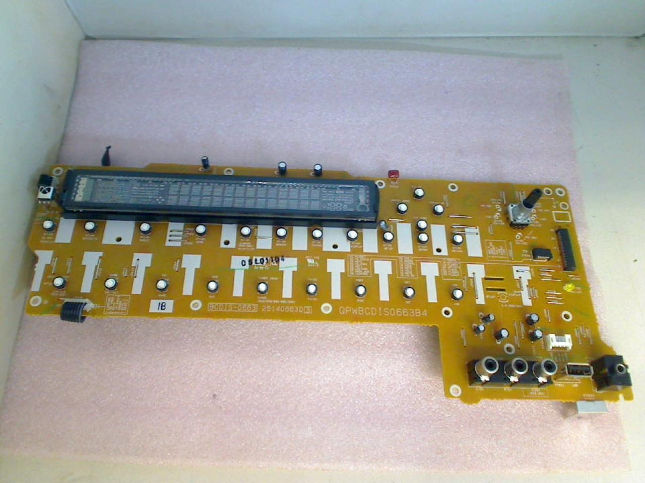 Electronic Board Control Panel BCDIS-0663 ONKYO TX-NR509