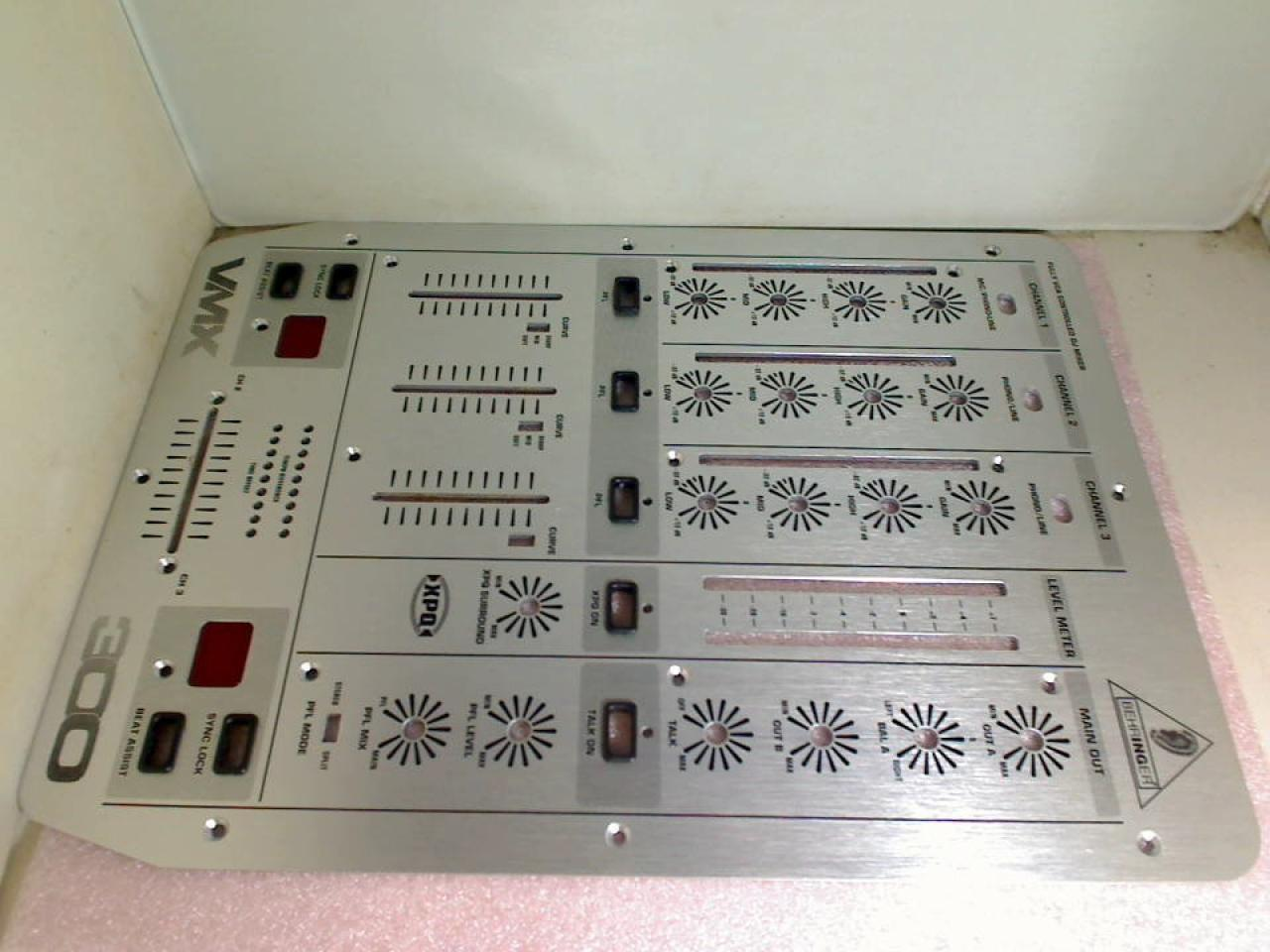 Front Housing Cover Panel Top Control Behringer Pro Mixer VMX300