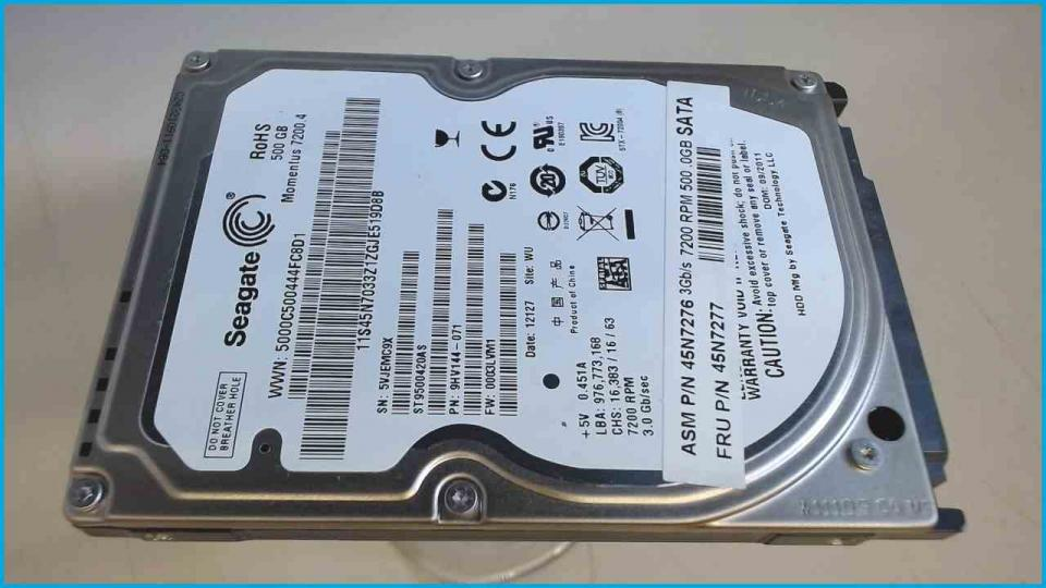 "HDD Festplatte 2,5"" 500GB Seagate ST9500420AS SATA ZOTAC Mini PC ZBOX NANO VD01"