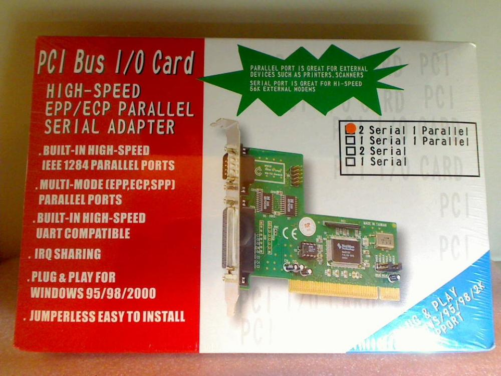 I/O Card High-Speed Parallel Serial Noname 32 Bit PCI Interface