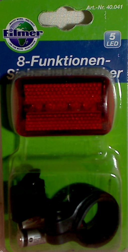 LED Bicycle Lighting Light 8-Funkt.-Sicherheitsflasher Filmer bicycle accessorie