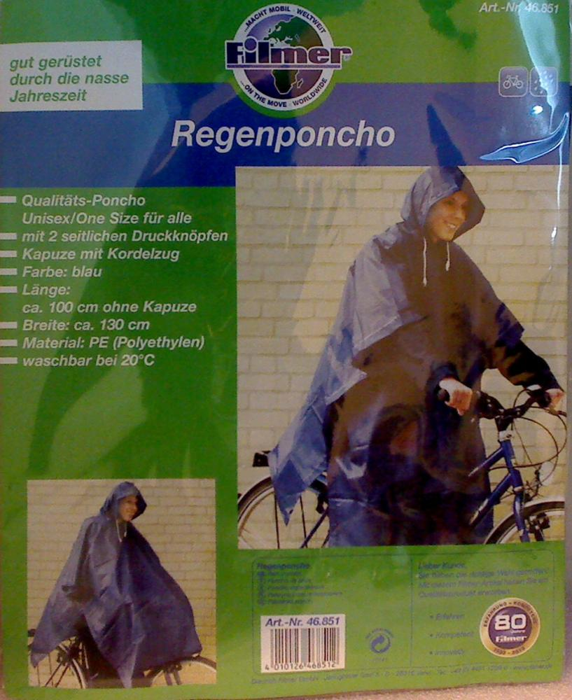 Rain Cape Poncho 46.851 Filmer bicycle accessories