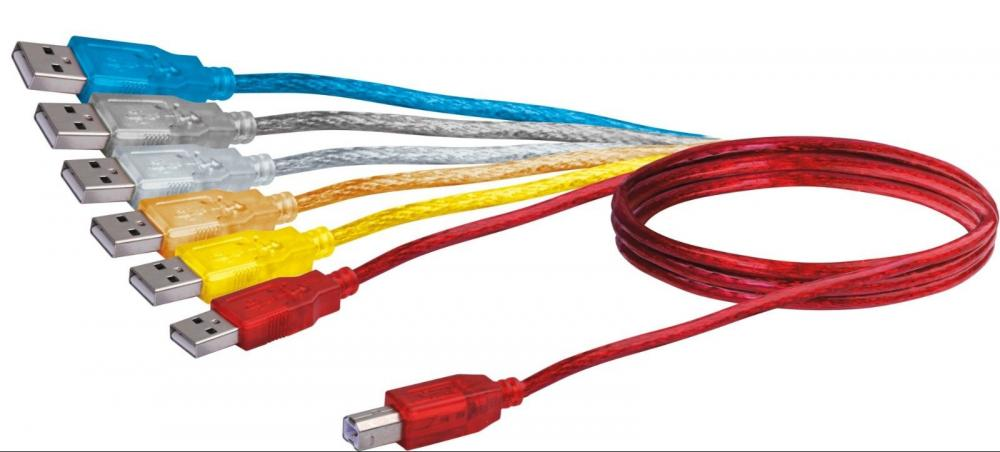 USB connection cable type A/B 1.5m CUK306 061 Schwaiger New OVP