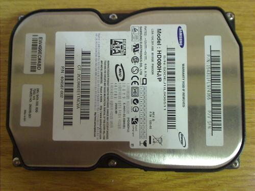 "80 GB 3.5"" Festplatte HDD HD080HJ/P from HP workstation xw6200"