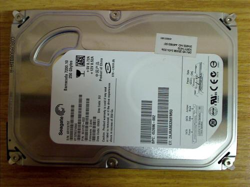 250 GB SATA HDD Festplatte Seagate ST3250310AS HP Compaq dx2400 Micotower