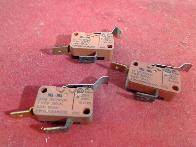 3 X Micro Switch Saeco Vienna de luxe SUP 018MR