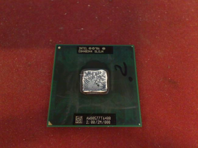 2 GHz Intel Core 2 Duo T6400 CPU Prozessor Clevo Terra Mobile 2300