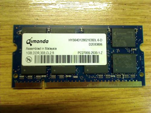 1 GB DDR 333 CL2.5 Qimonda HYS64D128021EBDL-6-D Acer Travelmate 243LC MS2138 240