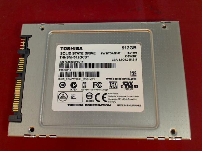 512 GB SSD SOLID STATE DRIVE THNSNH512GCST 205E3015 Toshiba Portege R700-19H
