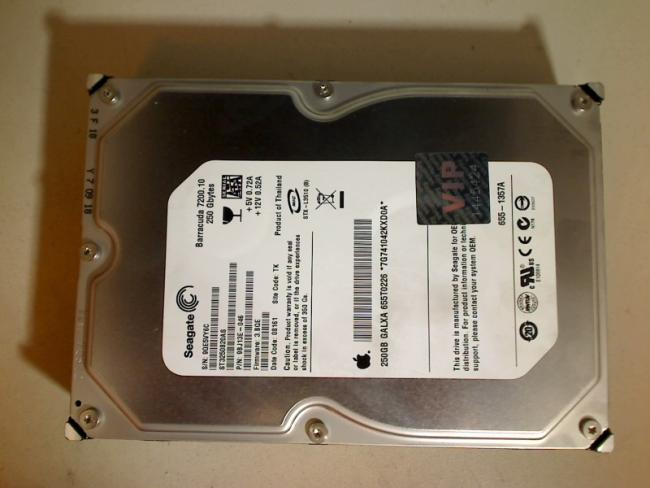 "250GB Seagate ST3250820AS 655-1356A 3.5"" SATA HDD Apple Mac Pro 579C-A1115 (2007"
