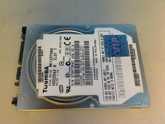 "120GB MK1237GSX HDD2D62 B ZL01 T 2.5"" SATA Toshiba Satellite A200-1AS"